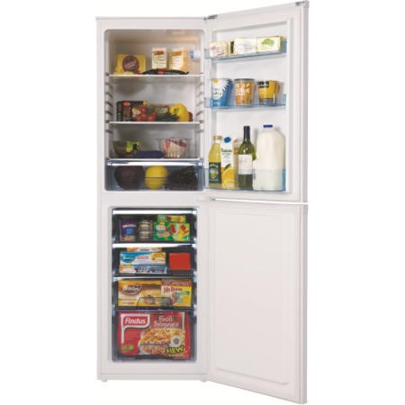 LEC 444441109 55cm Wide 1.73m Tall Frost Free Freestanding Fridge Freezer in White