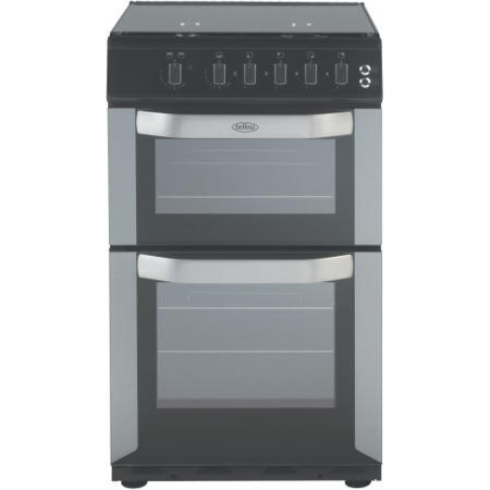 Belling FSG50DO 50cm Twin Cavity Gas Cooker - Silver
