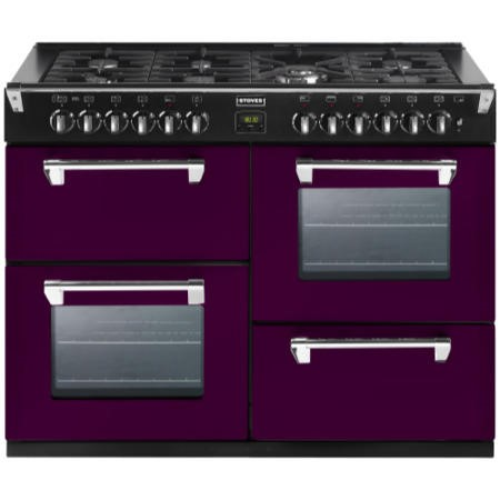 Stoves Richmond 1000DFT Colour Boutique 100cm Dual Fuel Range Cooker in Wild Berry