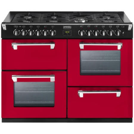 Stoves Richmond 1000DFT Colour Boutique 100cm Dual Fuel Range Cooker in Hot Jalapeno