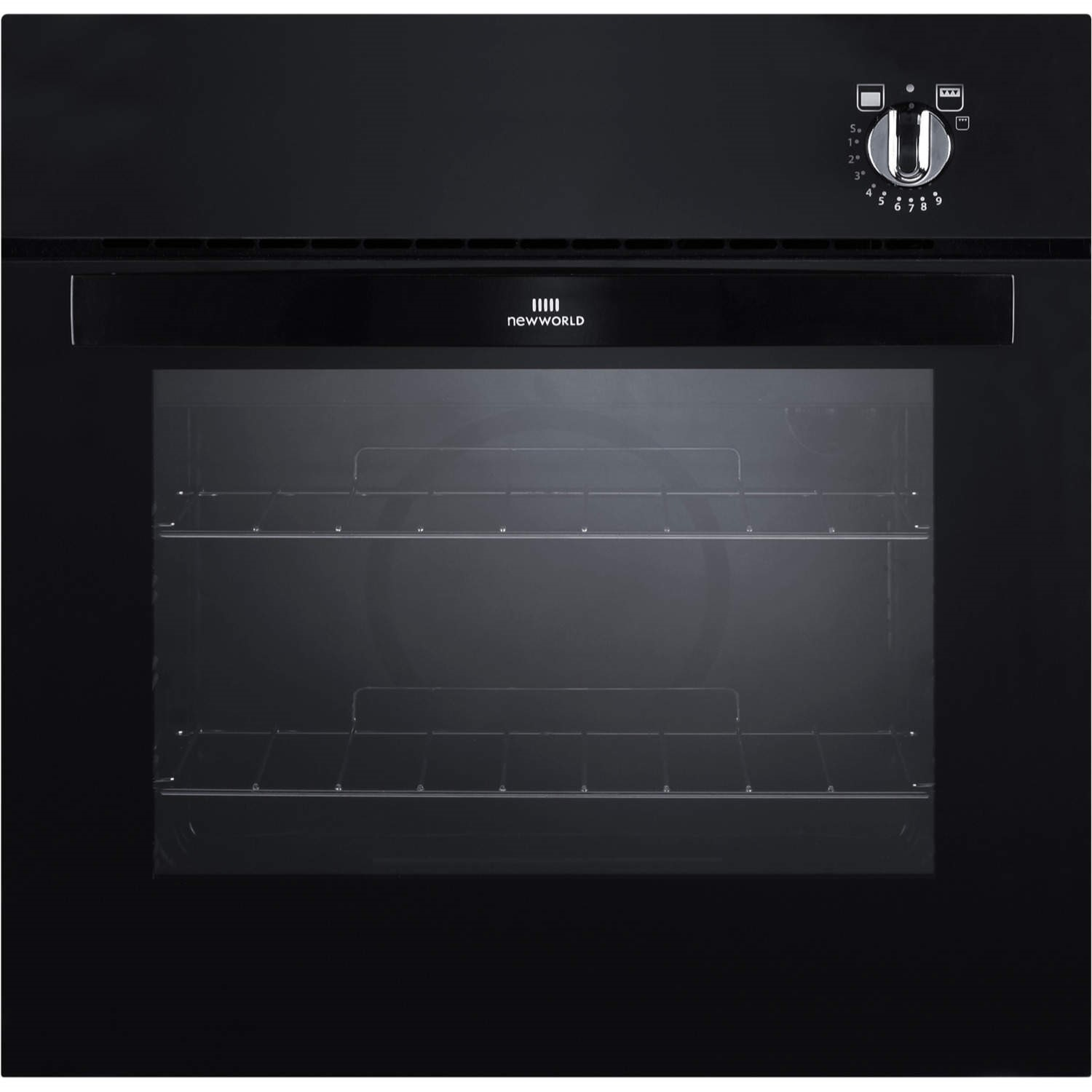 Exceptional Built In Gas Ovens Part - 11: New World NW601G Gas Built In Single Oven Black