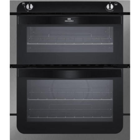 New World NW701G Gas Built-Under Twin Cavity Oven Stainless Steel