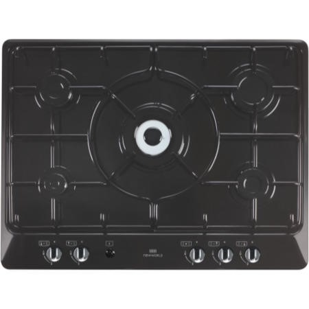 New World NWGHU701 70cm 5 Burner Gas Hob Black