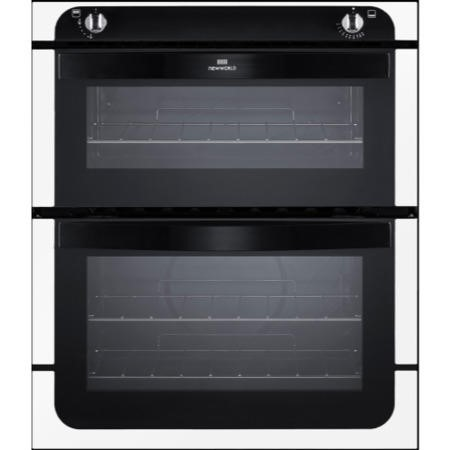 New World NW701G Gas Built-under Double Cavity Oven - White