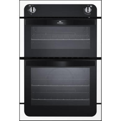 444441625 New World NW901G Gas Built In Double Cavity Oven - White