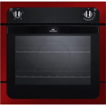 New World NW601F Fanned Electric Built In Single Oven - Metallic Red
