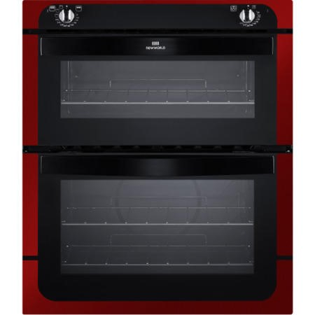 New World NW701DO Electric Built Under Double Oven In Metallic Red