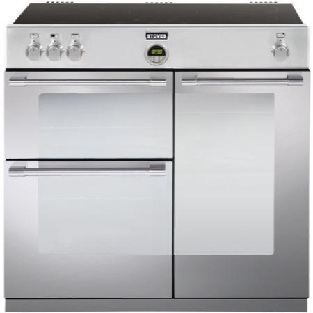 Stoves Sterling 900Ei Stainless Steel 90cm Electric Range Cooker With Induction Hob