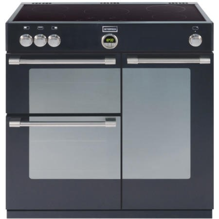 Stoves Sterling 900Ei Black 90cm Electric Range Cooker With Induction Hob