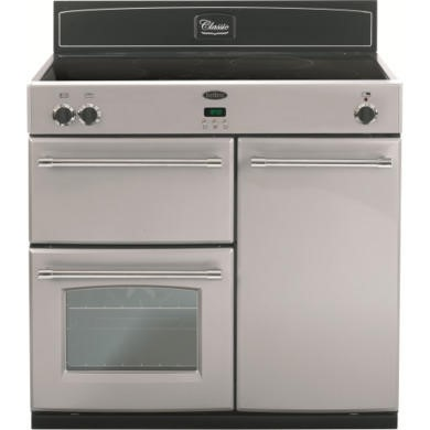 444441896 Belling Classic 90Ei 90cm Electric Range Cooker with Induction Hob - Silver