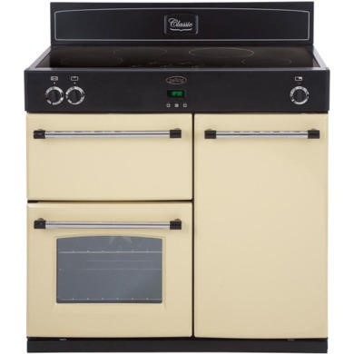 444441897 Belling Classic 90Ei 90cm Electric Range Cooker With Induction Hob - Cream
