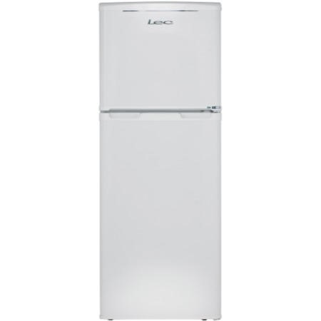 LEC T50122W 50cm Wide 1.2m Tall Top Mount Freestanding Fridge Freezer White