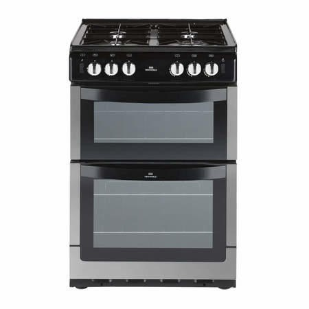 New World NW551GTC 55cm Wide Dual Cavity Gas Cooker In Stainless Steel
