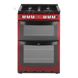 New World NW551GTC 55cm Wide Dual Cavity Gas Cooker In Metallic Red