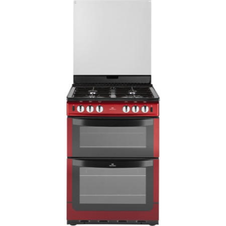 New World NW601GTCL 60cm Wide Dual Cavity Gas Cooker Metallic Red