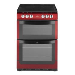 New World NW551ETC 55cm Wide Dual Cavity Electric Cooker In Metallic Red