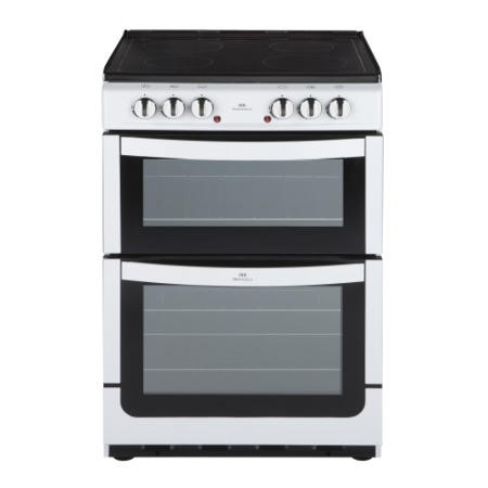 New World NW601EDO 60cm Wide Double Oven Electric Cooker In White