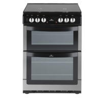 New World NW601DFDOL 60cm Wide Double Oven Dual Fuel Cooker In Stainless Steel