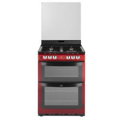 New World NW601DFDOL 60cm Wide Double Oven Dual Fuel Cooker In Metallic Red
