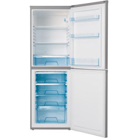 LEC TF5517S Frost Free Freestanding Fridge Freezer - Silver