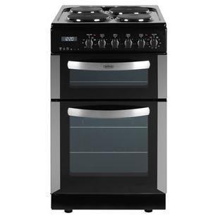 belling fse50dop 50cm wide double oven electric cooker. Black Bedroom Furniture Sets. Home Design Ideas