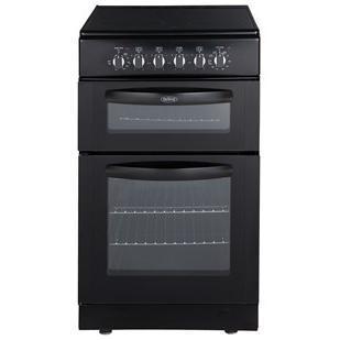 belling fsec50dob 50cm wide double oven electric cooker. Black Bedroom Furniture Sets. Home Design Ideas