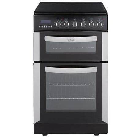 Belling fsec50dopss 50cm wide double oven electric cooker for Kitchen cabinets 50cm wide