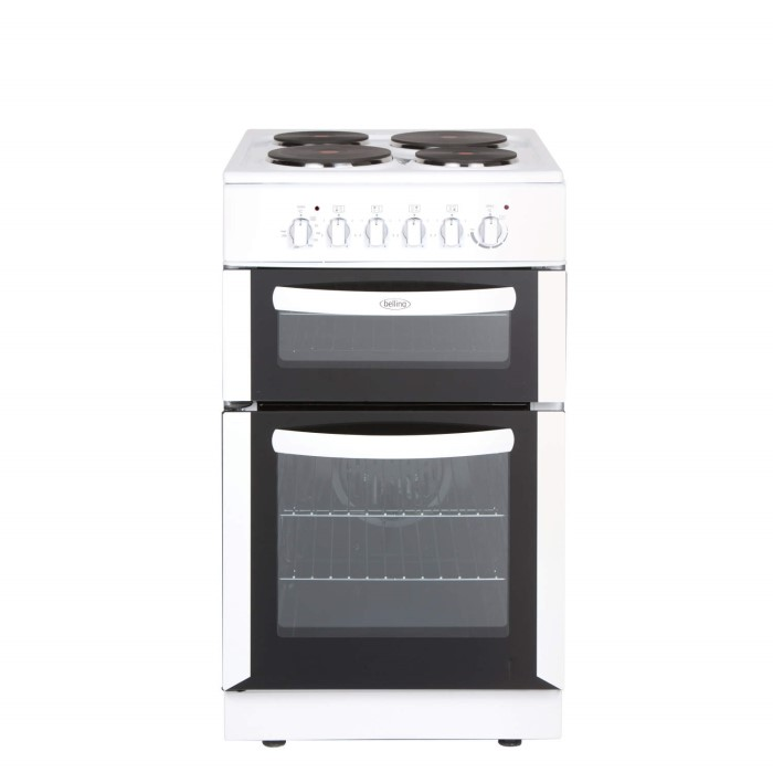 Belling fse50tcw 50cm wide double cavity electric cooker for Kitchen cabinets 50cm wide