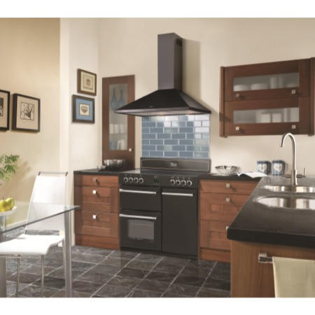 Belling Classic 900e Blk Range Cooker And 90 Chim Bk