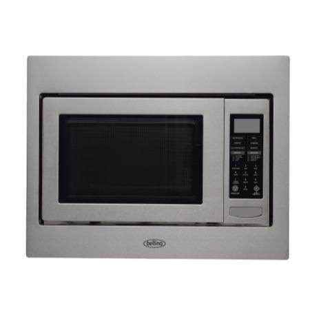 Belling BIMW60 Built-in Microwave with Grill For A 60cm Wide Cabinet - Stainless Steel