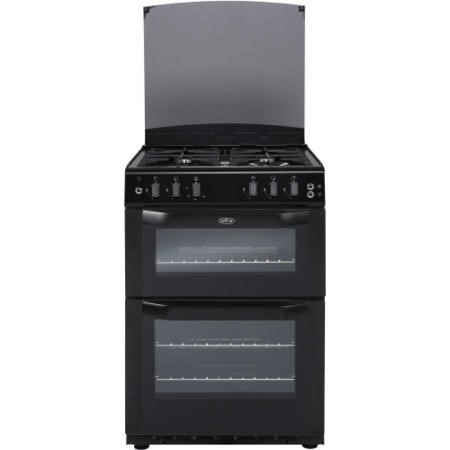 Belling FSG 55 TCF Black 55cm Wide Double Cavity Fanned Gas Cooker