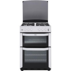 Belling FSG 55 TCF White 55cm Wide Double Cavity Fanned Gas Cooker