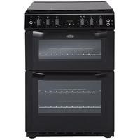 Belling FSG60DOF 60cm Fanned Gas Double Oven Cooker With Programmable Timer Black