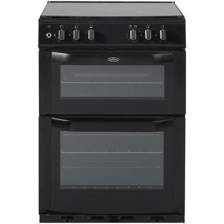 Belling FSDF60DOW Double Oven 60cm Dual Fuel Cooker - Black