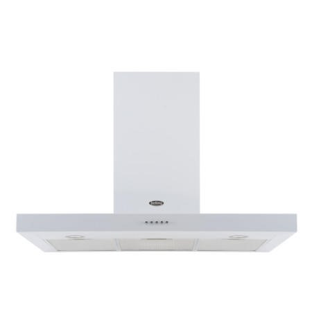 Belling 90 DB FLAT 90cm Wide Chimney Cooker Hood White