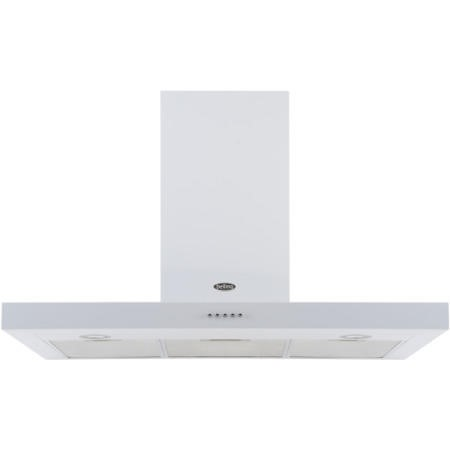 Belling 110 DB FLAT 110cm Wide Chimney Cooker Hood White