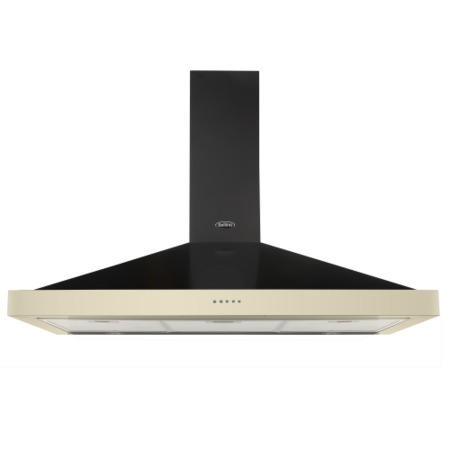 Belling CLASSIC 110CHIM 110cm Wide Chimney Cooker Hood Cream