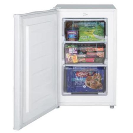 LEC U50263 50cm Wide Freestanding Upright Under Counter Freezer - White