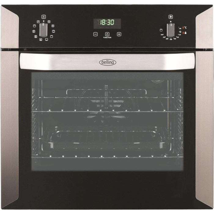 GRADE A1 - Belling BI 60E PYR Stainless Steel Electric Built-in Single Oven  With Pyrolytic Cleaning