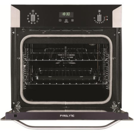 Belling BI 60E PYR Stainless Steel Electric Built-in Single Oven With Pyrolytic Cleaning
