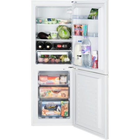 LEC TF55153W 205 L 152x55cm Frost Free Freestanding Fridge Freezer - White