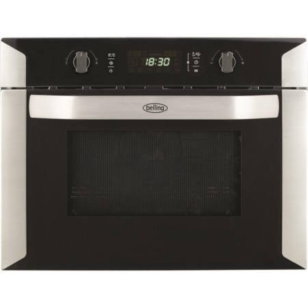 Belling bi60comw compact stainless steel built in for Small built in microwave oven