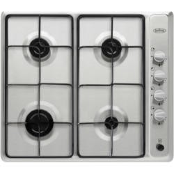 Belling 444443273 GHU60VE Four Burner Gas Hob With Enamel Pan Stands Stainless Steel