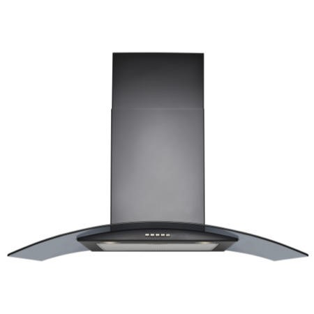 GDHA 444443286 900CGH 90cm Chimney Hood Black