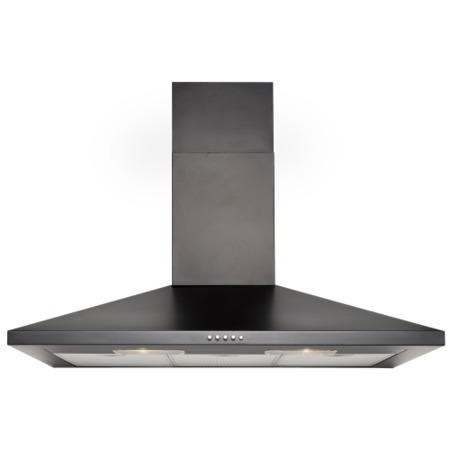 GDHA 444443287 CHIM90 90cm Chimney Hood Black