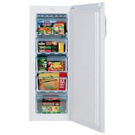 LEC TU55144 55cm 142cm High Upright Freestanding Freezer - White