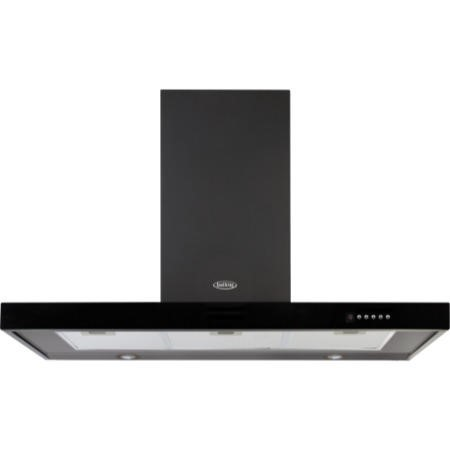 Belling 110 DB Flat MK2 110cm Chimney Cooker Hood Black