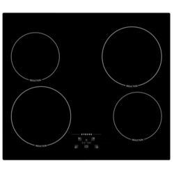 Stoves SIH600T13 59cm Touch Control Four Zone Induction Hob For Plug-in Connection Black