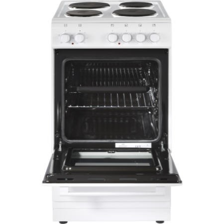 New World 50ES Single Oven Electric Cooker With Solid Plate Hob White