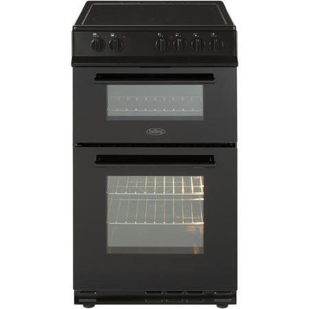 Belling FS50EDOFC 50cm Fan Double Oven Electric Cooker With Ceramic Hob - Black